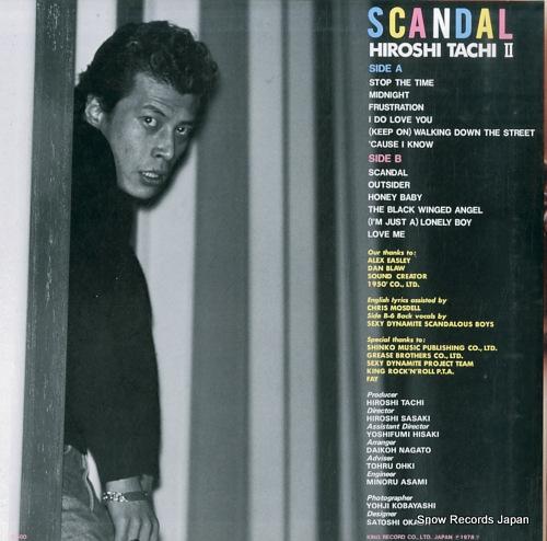 TACHI, HIROSHI scandal SKS14 - back cover