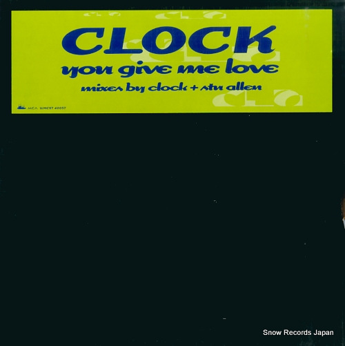 CLOCK you give me love WMCST40057 - front cover