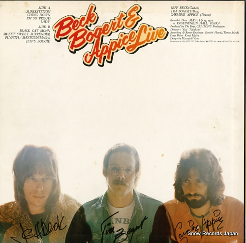 BECK, BOGERT AND APPICE live ECPO-58 - back cover