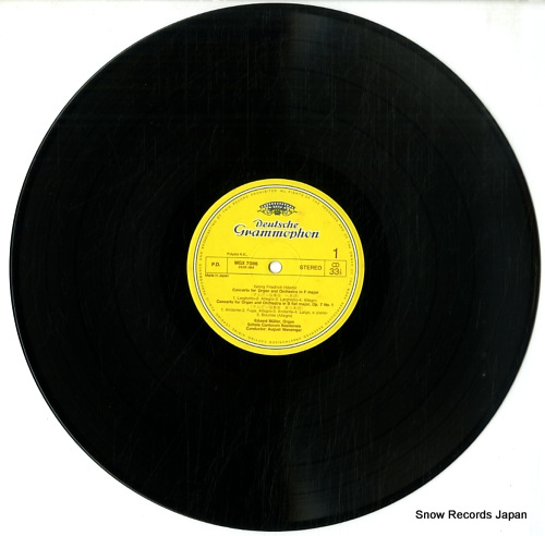 MULLER, EDUARD handel; organ concertos MGX7086 - disc