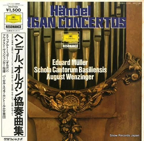 MULLER, EDUARD handel; organ concertos MGX7086 - front cover