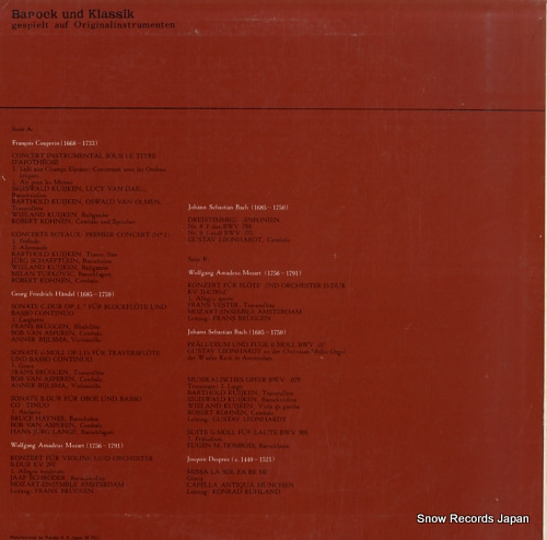 LEONHARDT, GUSTAV barock und klassik MLT5001 - back cover