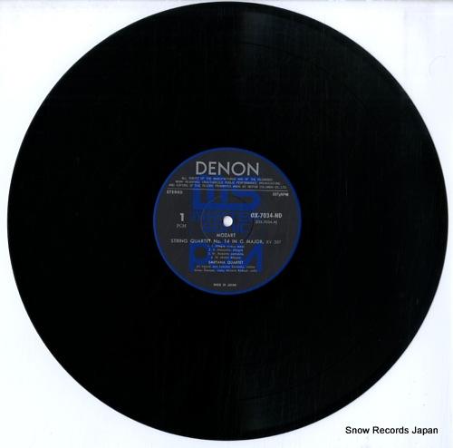 SMETANA QUARTET mozart; two haydn quartets OX-7034-ND - disc