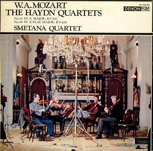 SMETANA QUARTET mozart; two haydn quartets OX-7034-ND - front cover