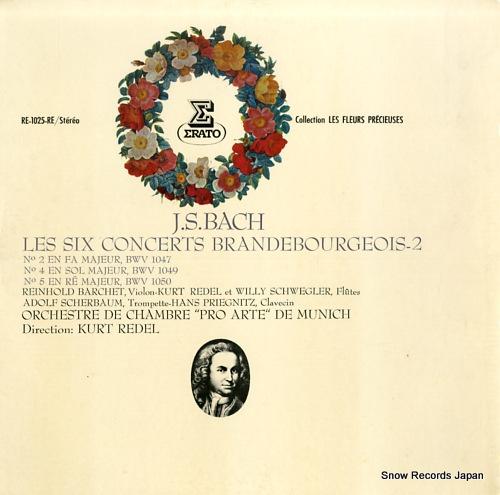REDEL, KURT j.s.bach; les six concerts brandebourgeois-2 RE-1025-RE - front cover