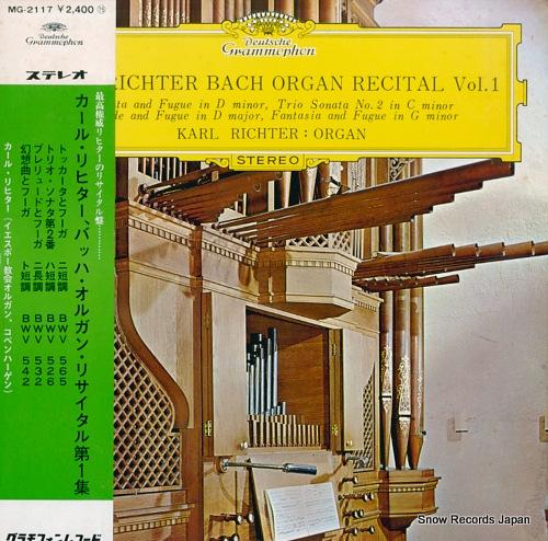 RICHTER, KARL bach organ recital vol.1 MG-2117 - front cover