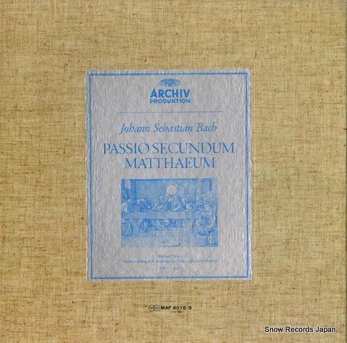 RICHTER, KARL bach; passio secundum matthaeum MAF8016/9 - front cover