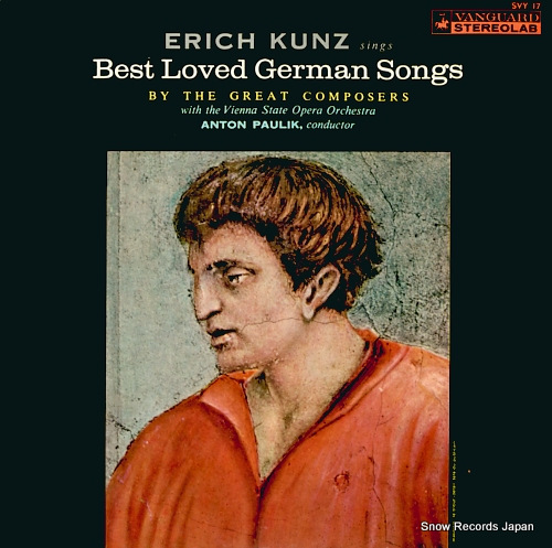 KUNZ, ERICH erich kunz sings best loved german songs SVY17 - front cover