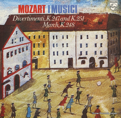 I MUSICI mozart; divertimenti k.247 and k.251 SFX-8605 - front cover