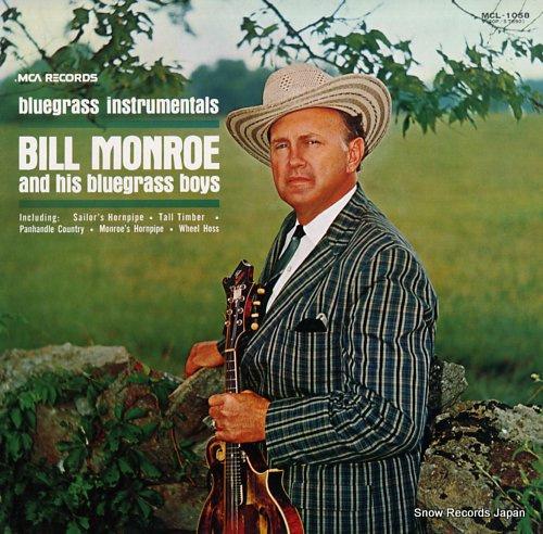 MONROE, BILL bluegrass instrumentals MCL-1058 - front cover
