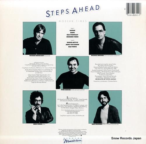 STEPS AHEAD modern times 960351-1-E - back cover