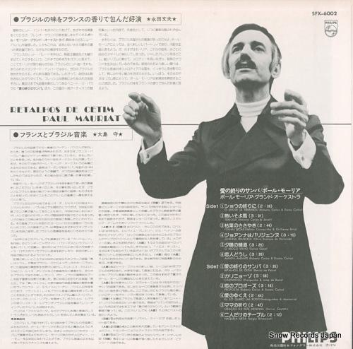 MAURIAT, PAUL retalhos de cetim SFX-6002 - back cover