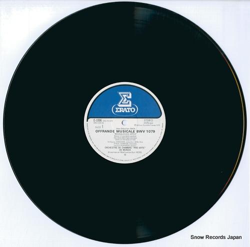 REDEL, KURT j.s.bach; musikalisches opfer bwv 1079 E-1006 - disc