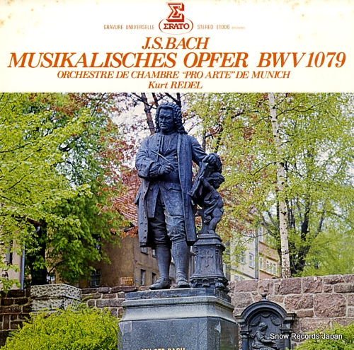 REDEL, KURT j.s.bach; musikalisches opfer bwv 1079 E-1006 - front cover