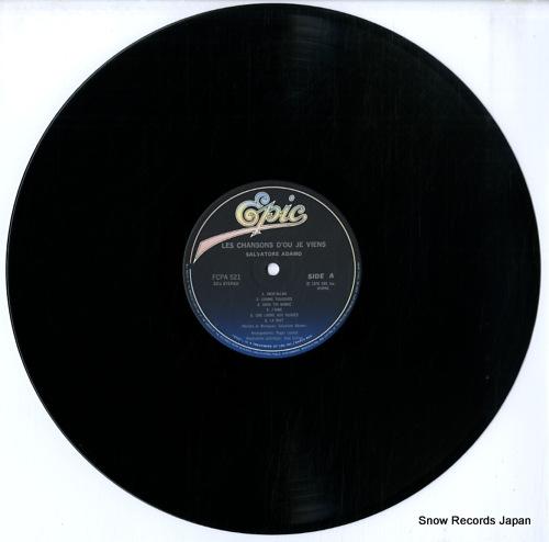 ADAMO, SALVATORE les chansons's d'ou je viens FCPA521 - disc