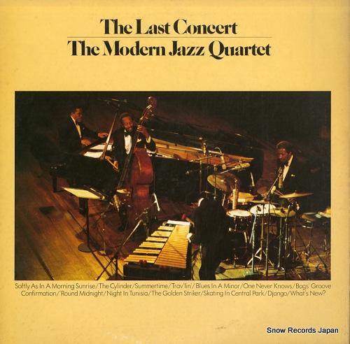 MODERN JAZZ QUARTET, THE the last concert P-6321-2A - back cover