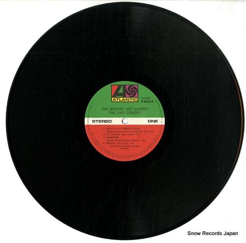 MODERN JAZZ QUARTET, THE the last concert P-6321-2A - disc