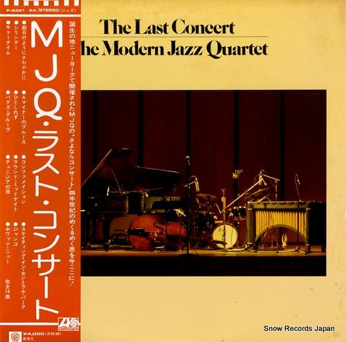 MODERN JAZZ QUARTET, THE the last concert P-6321-2A - front cover