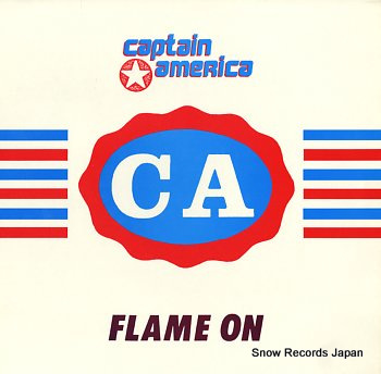 CAPTAIN AMERICA flame on