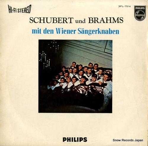 WIENER SANGERKNABEN schubert and brahms SFL-7514 - front cover