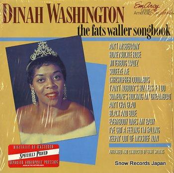 WASHINGTON, DINAH fats waller songbook, the
