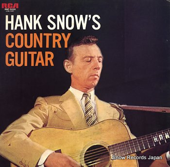 SNOW, HANK country guitar