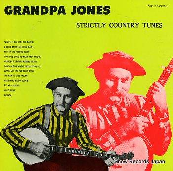 JONES, GRANDPA strictly country tunes