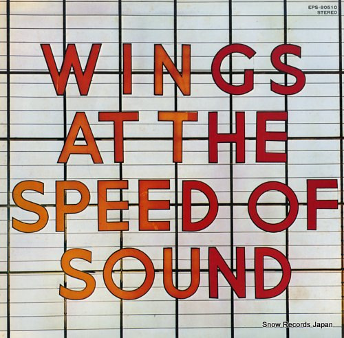 MCCARTNEY, PAUL & WINGS at the speed of sound