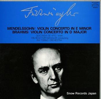 FURTWANGLER, WILHELM mendelssohn brahms; violin concertos