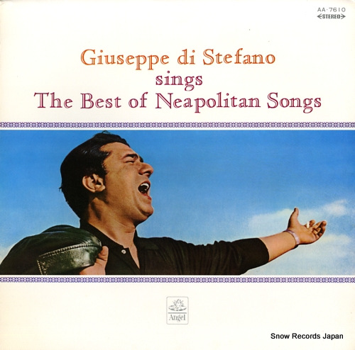 STEFANO, GIUSEPPE DI the best of neapolitan songs AA.7610 - front cover