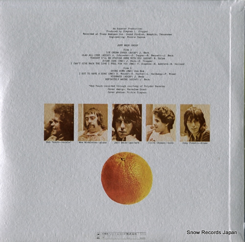 BECK, JEFF jeff beck group ECPN-17 - back cover