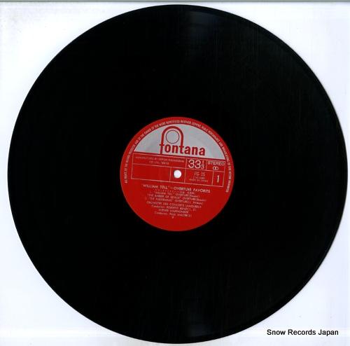 R.BENZI / P.WALTER / P.PARAY william tell overture favorites FG-15 - disc