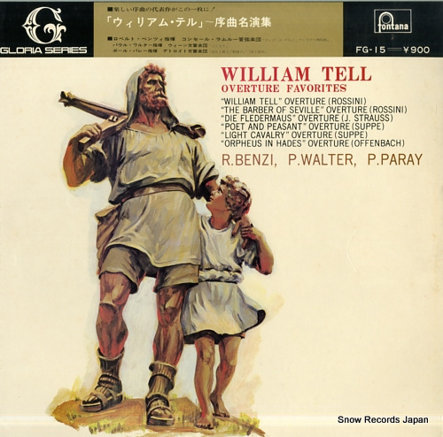 R.BENZI / P.WALTER / P.PARAY william tell overture favorites FG-15 - front cover