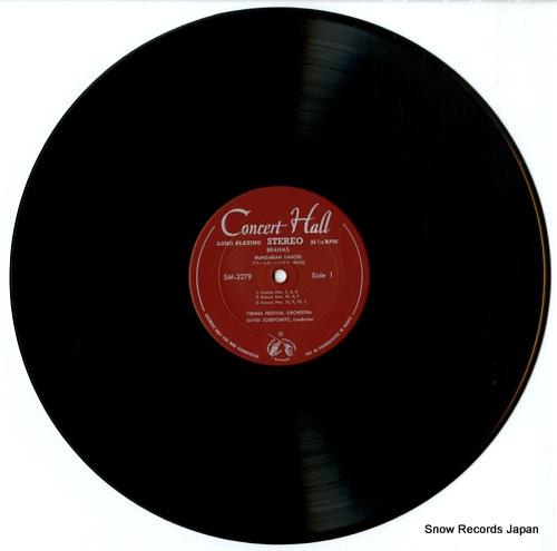 JOSEFOWITZ, DAVID brahms; hungarian dances SM-2279 - disc