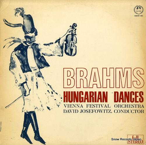 JOSEFOWITZ, DAVID brahms; hungarian dances SM-2279 - front cover