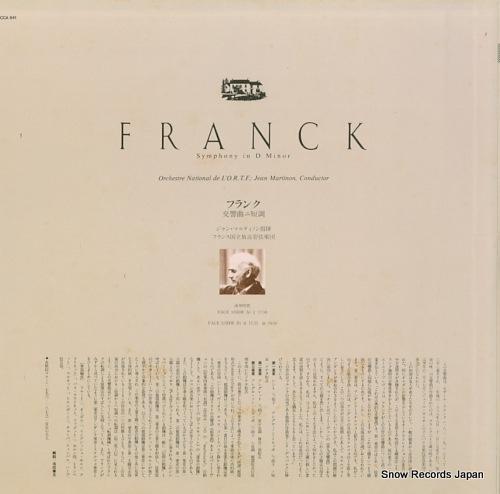 MARTINON, JEAN franck; symphony in d minor FCCA841 - back cover