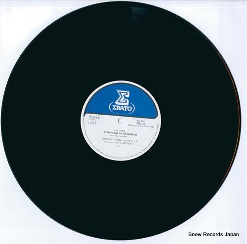 MARTINON, JEAN franck; symphony in d minor FCCA841 - disc