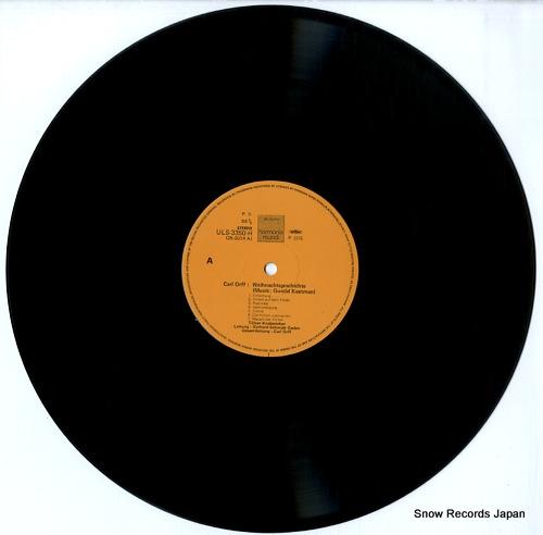 TOLZER KNABENCHOR carl orff; weihnachtsgeschichte ULS-3350-H - disc