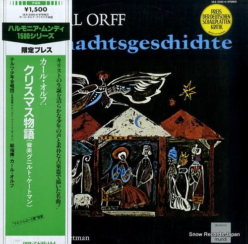 TOLZER KNABENCHOR carl orff; weihnachtsgeschichte ULS-3350-H - front cover