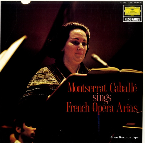CABALLE, MONTSERRAT sings french opera arias MGX7070 - front cover