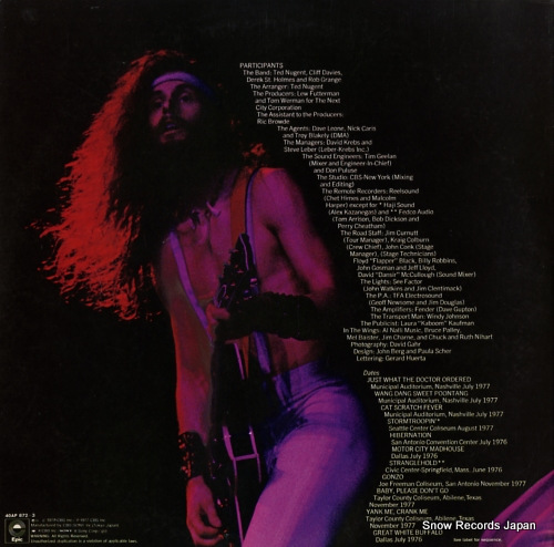 NUGENT, TED double live gonzo! 40AP872-3 - back cover