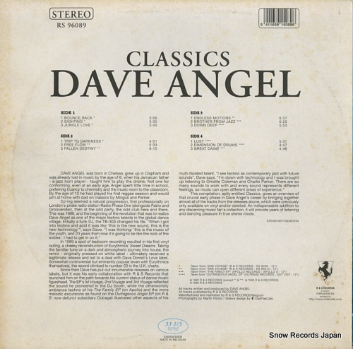 ANGEL, DAVE classics RS96089 - back cover