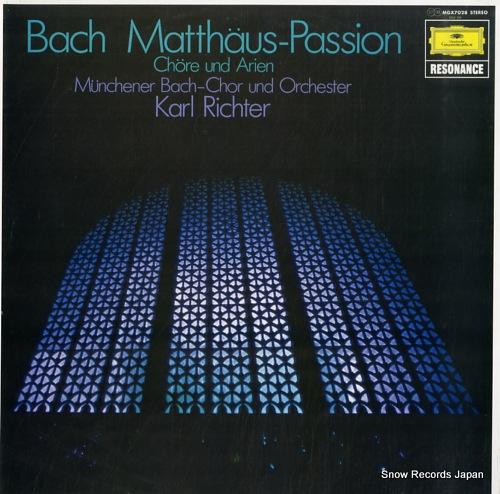 RICHTER, KARL bach; matthaus-passion chore und arien MGX7028 - front cover