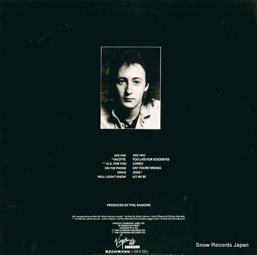 LENNON, JULIAN valotte 28VB-1002 - back cover