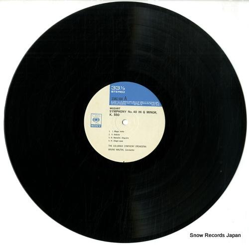 WALTER, BRUNO mozart; symphony no.40 & no.41 jupiter 23AC504 - disc