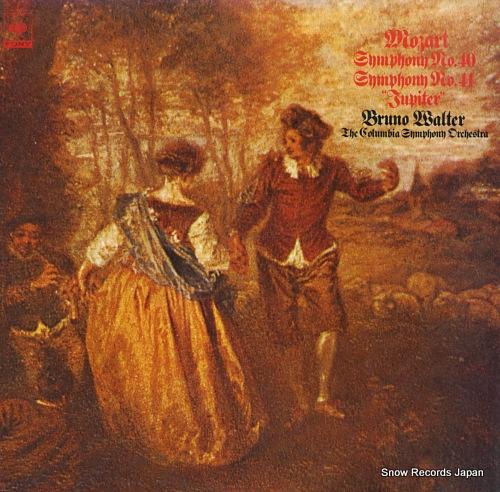 WALTER, BRUNO mozart; symphony no.40 & no.41 jupiter 23AC504 - front cover