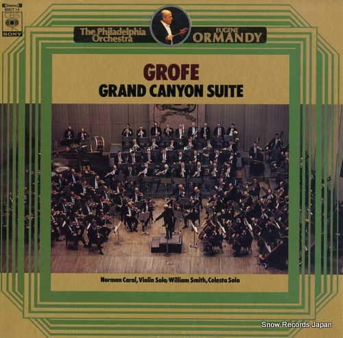 ORMANDY, EUGENE grofe; grand canyon suite SOCT14 - front cover