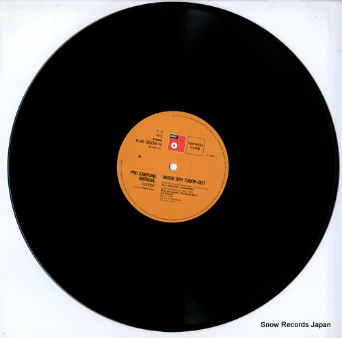 PRO CANTIONE ANTIQUA musik der tudor-zeit KUX-3004-H - disc