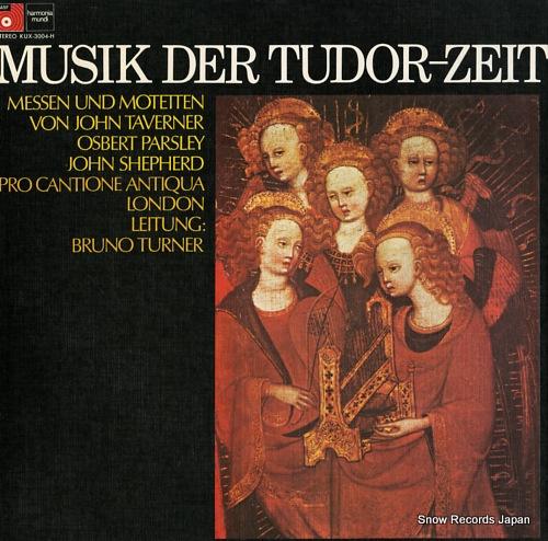 PRO CANTIONE ANTIQUA musik der tudor-zeit KUX-3004-H - front cover