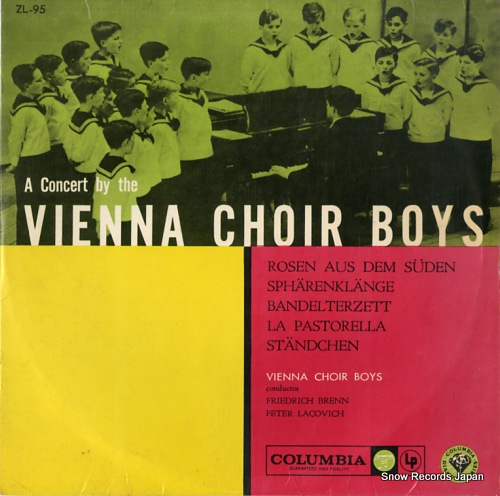 VIENNA CHOIR BOYS southern roses ZL-95 - front cover